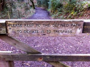 The defined path